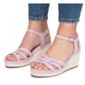 Fioletowe sandały na koturnie Glavel 2