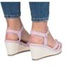 Fioletowe sandały na koturnie Glavel 1