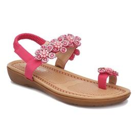 Różowe sandałki z kwiatkami Diamond Flower 1