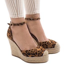 Panterka sandały na koturnie espadryle GOM1 wielokolorowe 1