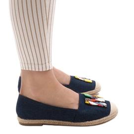 Granatowe espadryle trampki jeans H88-5 2