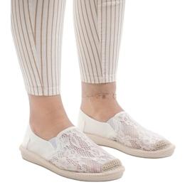 Białe espadryle trampki jeans LS701 1