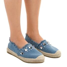Niebieskie espadryle jeans A608 1