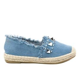 Niebieskie espadryle jeans A608 5