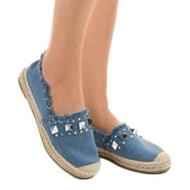 Niebieskie espadryle jeans A608 2