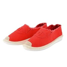 Czerwone espadryle wsuwane XY2618-4 2