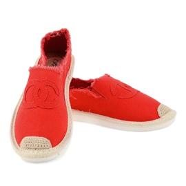 Czerwone espadryle wsuwane XY2618-4 4
