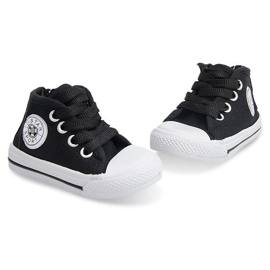 Wysokie Dziecięce Trampki Y1309 Czarny czarne 1
