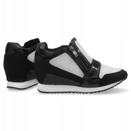 Modne Proste Sneakersy SK48 Czarny czarne 1