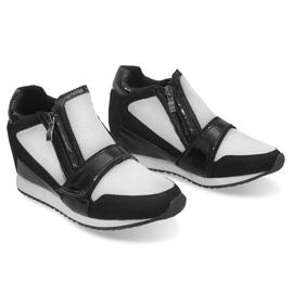 Modne Proste Sneakersy SK48 Czarny czarne 2