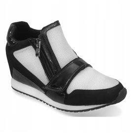 Modne Proste Sneakersy SK48 Czarny czarne 3