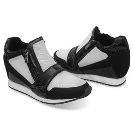 Modne Proste Sneakersy SK48 Czarny czarne 4
