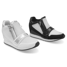 Modne Proste Sneakersy SK48 Czarny czarne 5