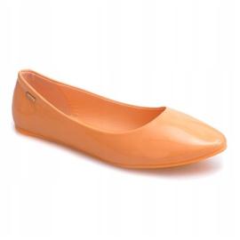 Lakierowane Balerinki 11037 Pomarańczowy pomarańczowe 1