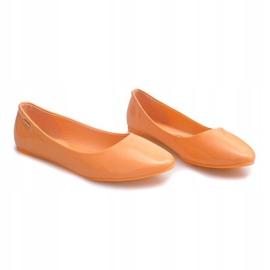 Lakierowane Balerinki 11037 Pomarańczowy pomarańczowe 2