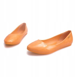 Lakierowane Balerinki 11037 Pomarańczowy pomarańczowe 3