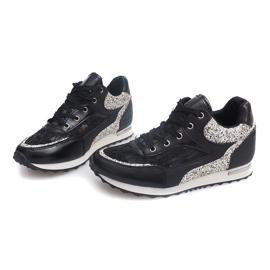 Sneakersy BK-001 Czarny czarne 2