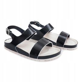 Klasyczne Sandały 6610 Czarny czarne 1