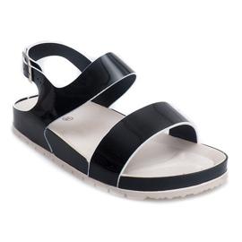 Klasyczne Sandały 6610 Czarny czarne 2