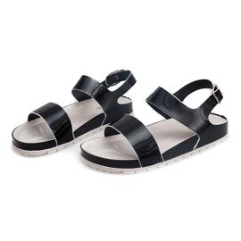 Klasyczne Sandały 6610 Czarny czarne 3