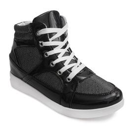 Sneakersy 306-Y Czarny czarne 1
