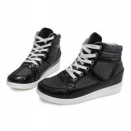 Sneakersy 306-Y Czarny czarne 2