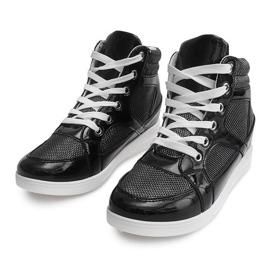 Sneakersy 306-Y Czarny czarne 3