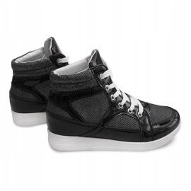 Sneakersy 306-Y Czarny czarne 4