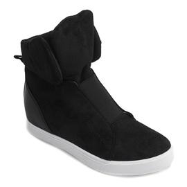 Sneakersy Na Koturnie TL088 Czarny czarne 2