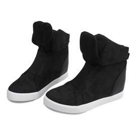 Sneakersy Na Koturnie TL088 Czarny czarne 3