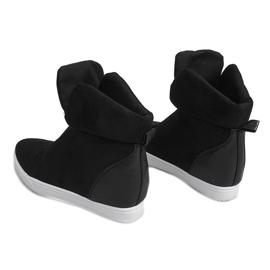 Sneakersy Na Koturnie TL088 Czarny czarne 1