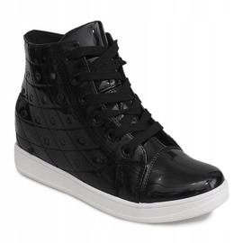 Sneakersy Na Koturnie YD-61 Czarny czarne 2