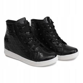 Sneakersy Na Koturnie YD-61 Czarny czarne 3