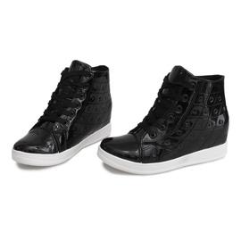 Sneakersy Na Koturnie YD-61 Czarny czarne 1