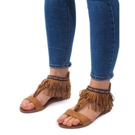 Zamszowe Sandały Boho 8-9 Camel brązowe 2