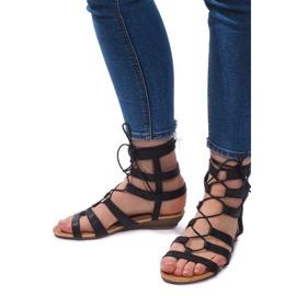 Sandały Gladiatorki Rzymianki 8515 Czarny czarne 1