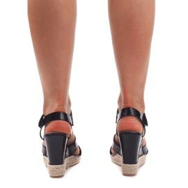 Sandały Na Koturnie 5H5670 Czarny czarne 2