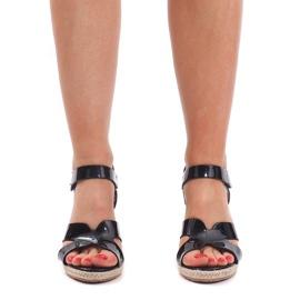 Sandały Na Koturnie 5H5670 Czarny czarne 3