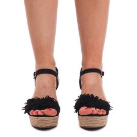 Sandały Na Koturnie Espadryle FY8288 Czarny czarne 1