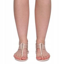 Sandały Meliski Z Cyrkoniami 001-356 Beżowy brązowe 2