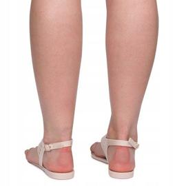 Sandały Meliski Z Cyrkoniami 001-356 Beżowy brązowe 3