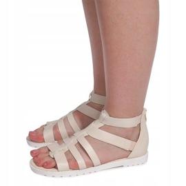 Sandały Rzymianki LEI-109 Beżowy brązowe 2
