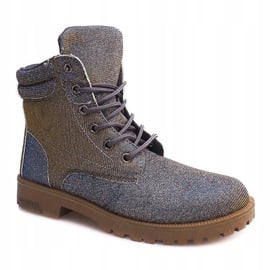 Timberki Trapery TL042-13 GREY/BROWN szare 3