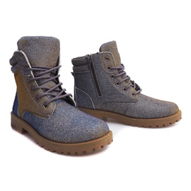 Timberki Trapery TL042-13 GREY/BROWN szare 1