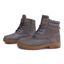 Timberki Trapery TL042-13 GREY/BROWN szare 4