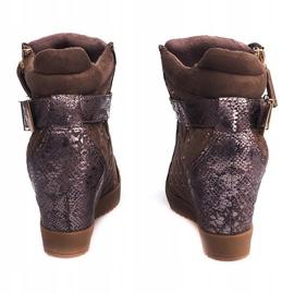 Sneakersy Na Koturnie 6227-Y Khaki 4