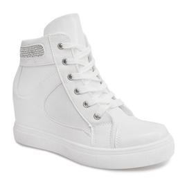Sneakersy Na Koturnie A-35 Biały białe 5