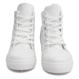 Sneakersy Na Koturnie A-35 Biały białe 1