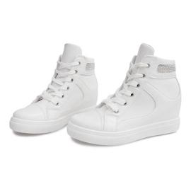 Sneakersy Na Koturnie A-35 Biały białe 2