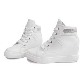 Sneakersy Na Koturnie A-35 Biały białe 3